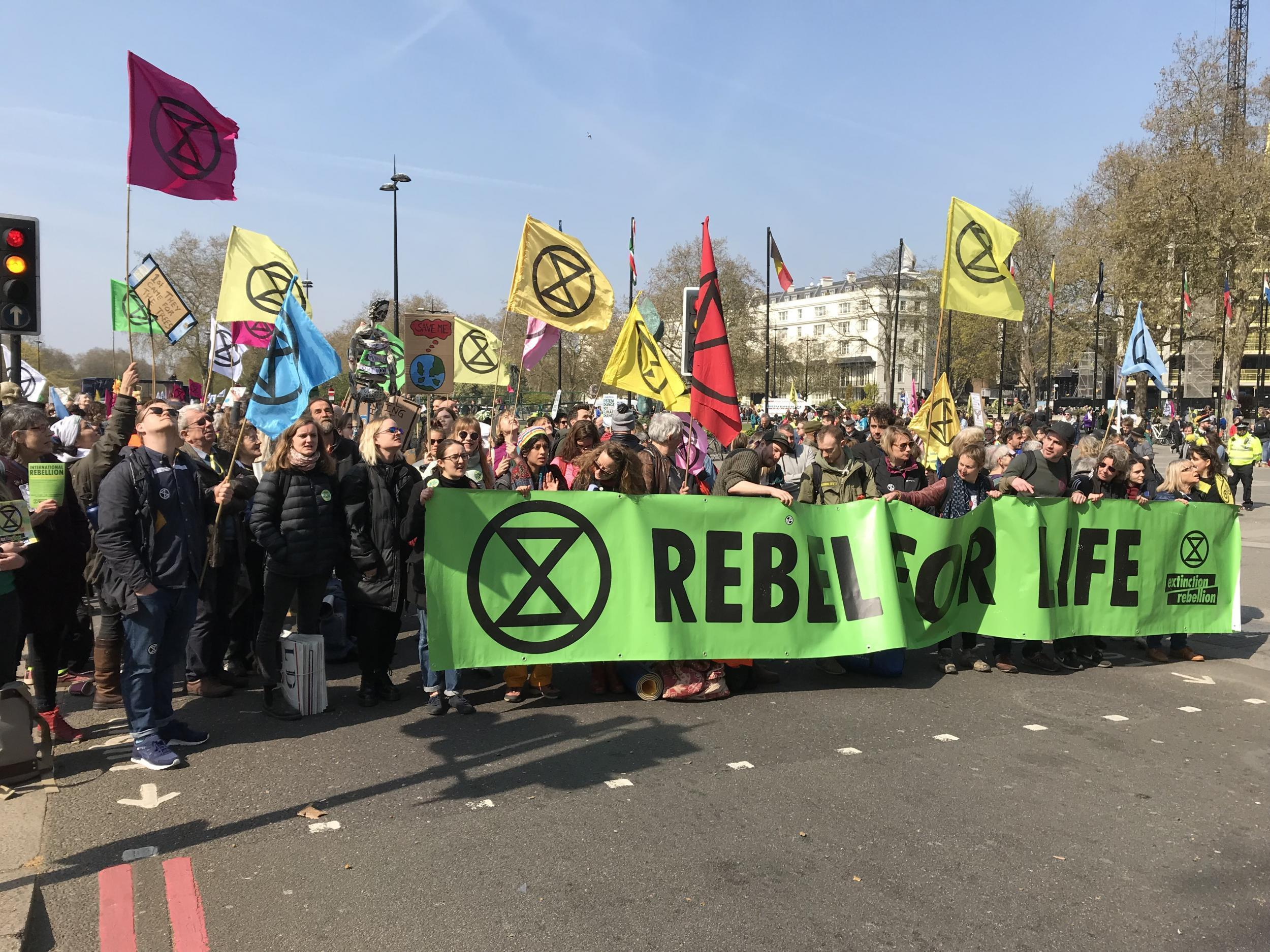 Nearly 300 people arrested in ongoing climate change protests in London