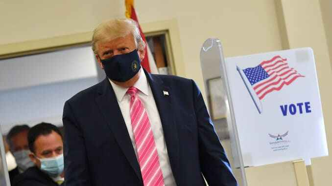 Donald Trump votes in Florida