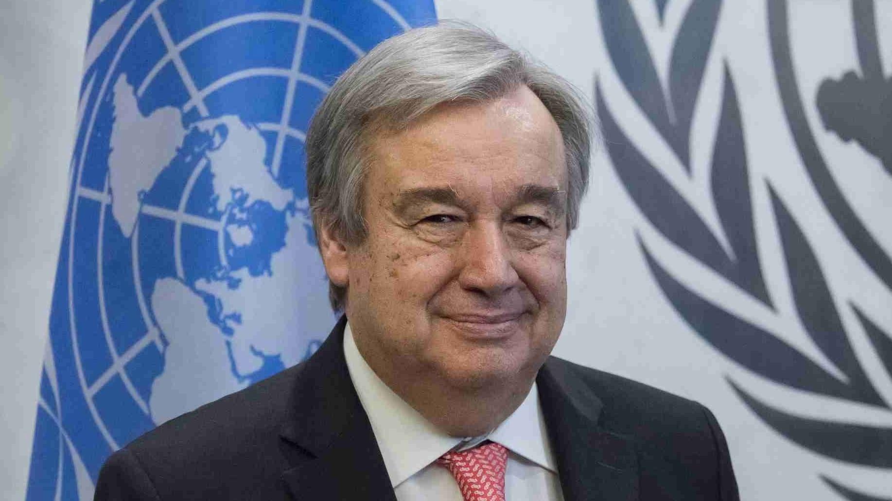 UN chief Antonio Guterres welcomes Kim