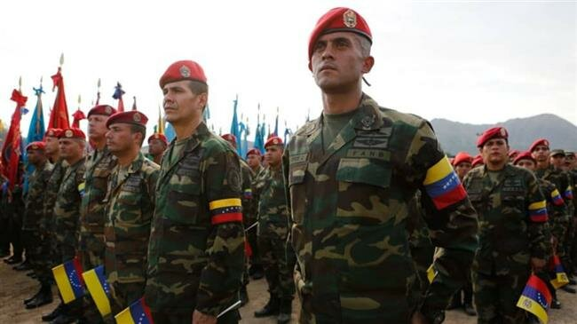 Venezuela army awaiting US 'with weapons in hands'