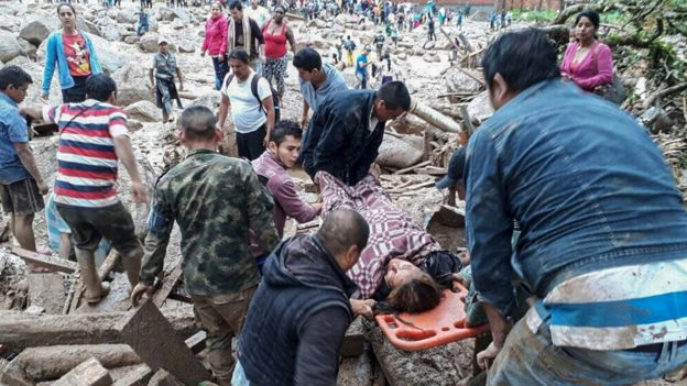 colombialandslides:morethan100dieafterheavyrainhitssouthwest