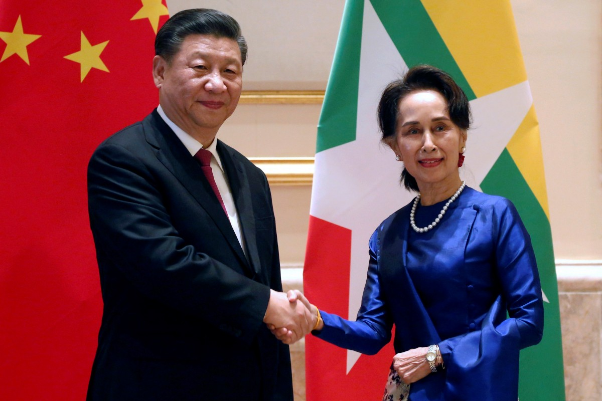 Chinese President Xi Jinping arrives in Myanmar