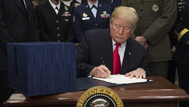 Donald Trump signs USD 692 billion defence budget