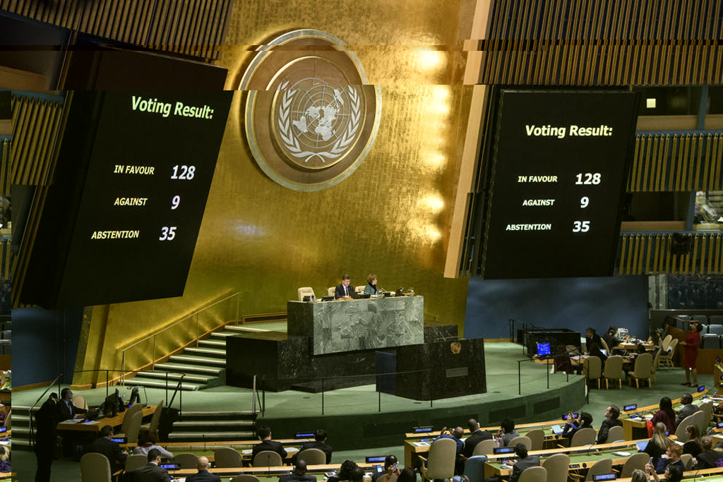 128 countries including India vote to reject Trump