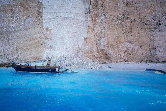 Seven hurt in Greek island beach rockslide