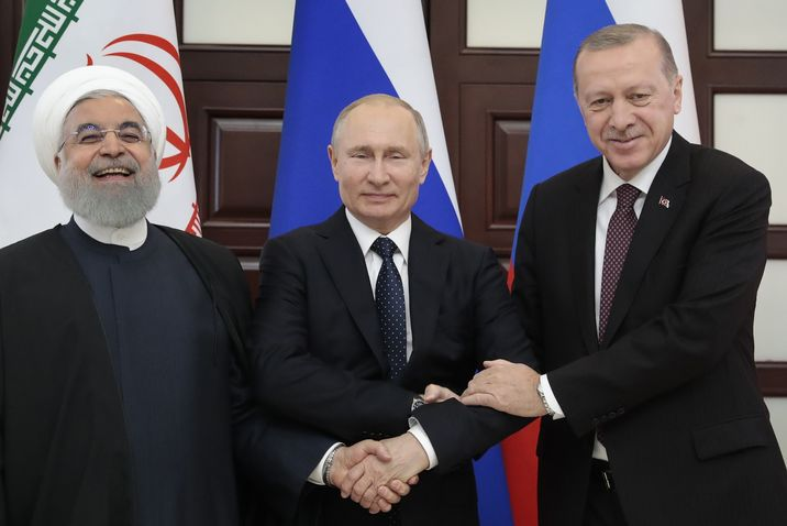 Turkish President Recep Erdogan hosts Putin, Rouhani for Syria summit