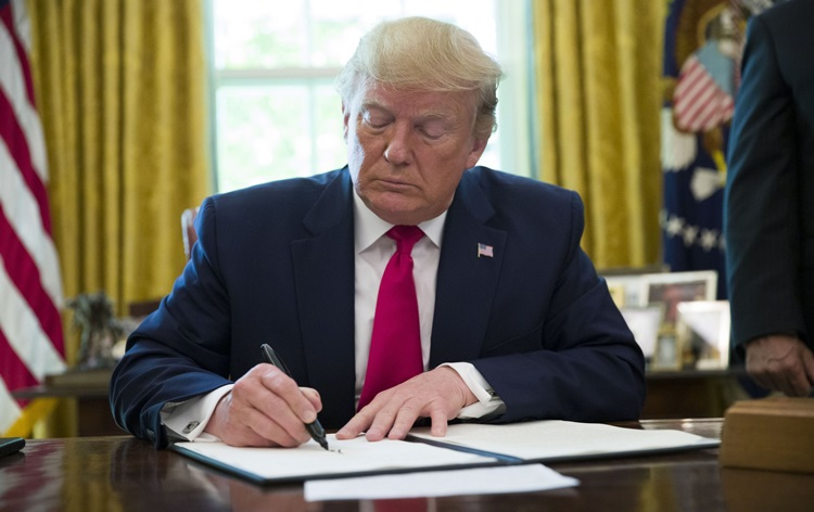 US Prez Trump signs executive order for recovery