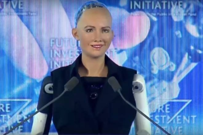Saudi Arabia's first robot gets its first job at government entity