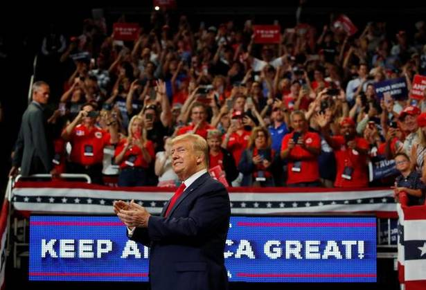 Trump launches 2020 re-election bid with mega rally in Florida, US