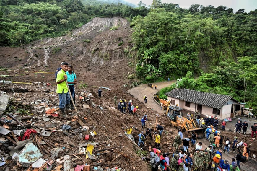 Mudslide kills 14 in Colombia