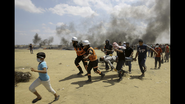 55 Palestinians injured in clashes with Israeli military in Gaza Strip