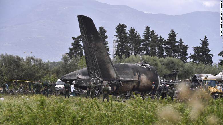Algeria military plane crash kills two