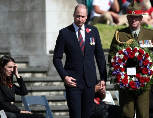 Prince william attends emotional Anzac Day ceremony in New Zealand