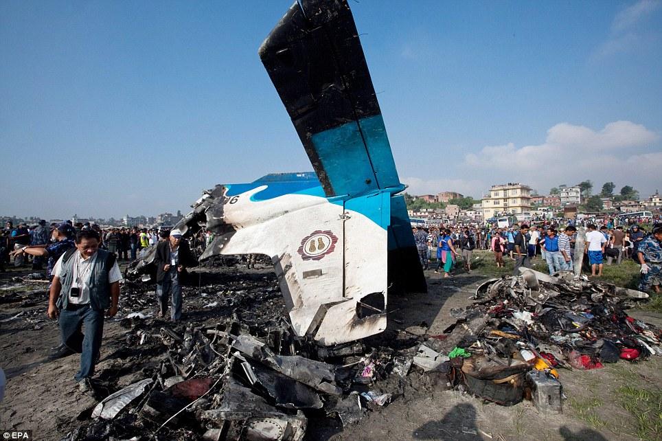 Bangladeshi plane with 67 passengers crashes in Kathmandu;20 injured