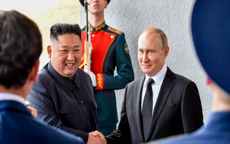 Vladimir Putin, Kim Jong Un hold first-ever talks