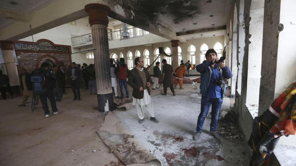 Suicide blast followed by gunshots at a Shia mosque in Kabul kills three