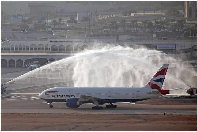 BA's Boeing 777 splash down in Oman after first direct flight to Muscat from London
