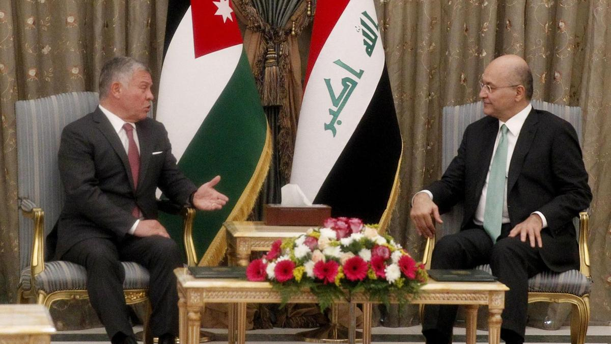King Abdullah in Baghdad for first visits in over a decade