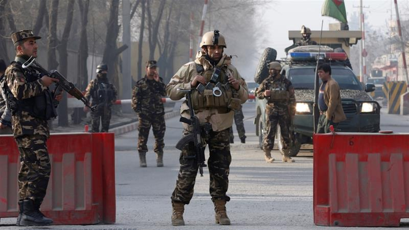 Five people killed in attack on Kabul military compound