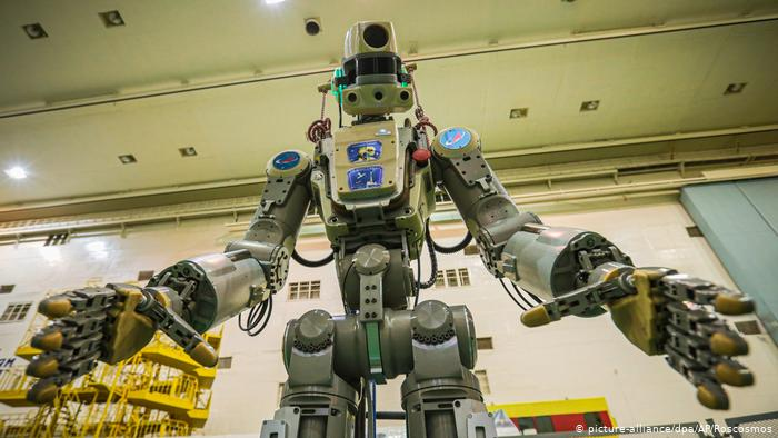 Russian spacecraft carrying first humanoid robot docks at ISS
