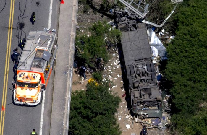 43 police officers killed in bus crash in Argentina