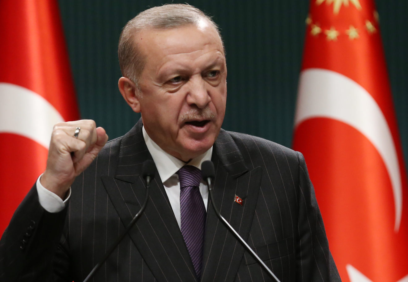 Erdogan steps back from threat to expel 10 foreign envoys
