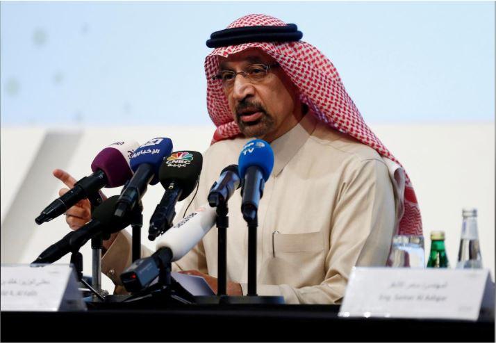 Saudi crude output to fall to 9.8 million bpd in March: Falih