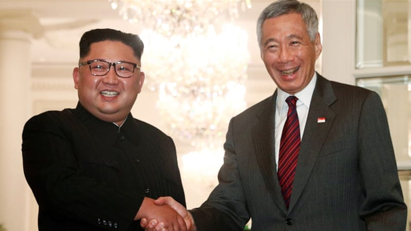 Kim meets with Singapore