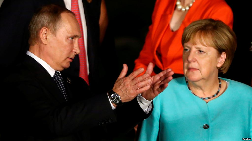 German Chancellor Angela Merkel to meet Russian President Putin today