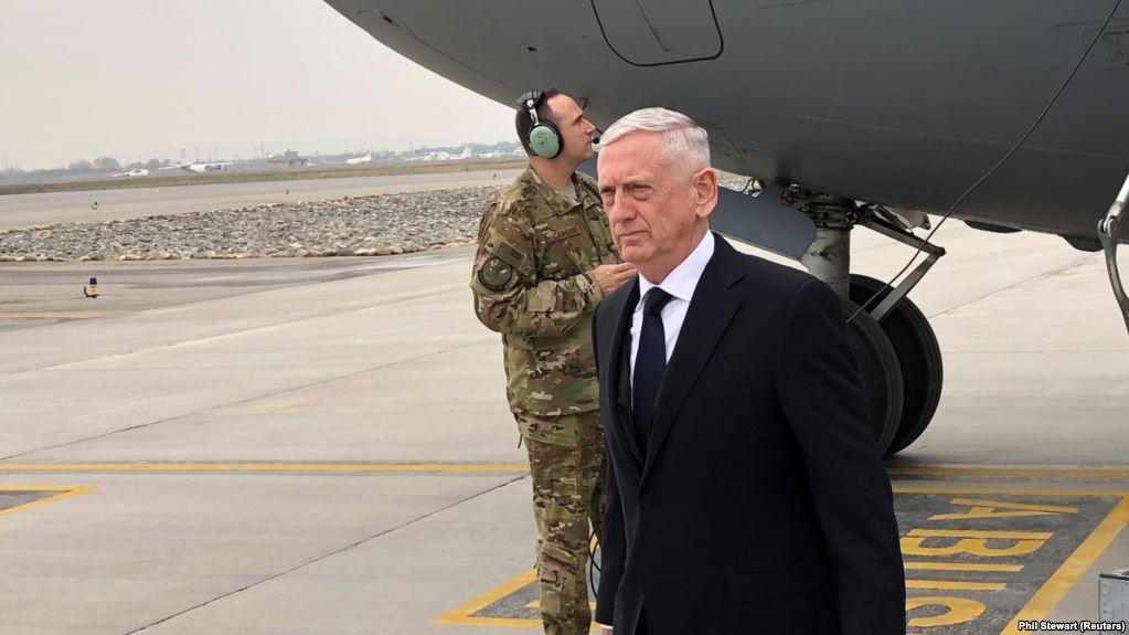 Jim Mattis arrives in Kabul on unannounced visit to meet president Ghani