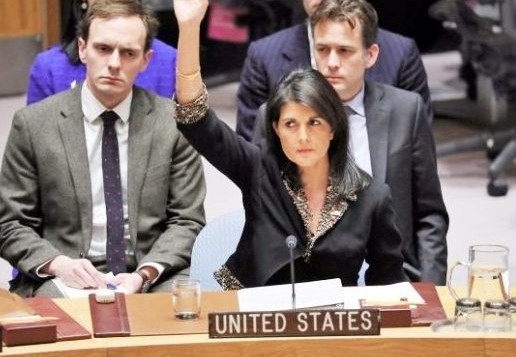 US vetoes Arab-backed UN draft resolution to protect Palestinians