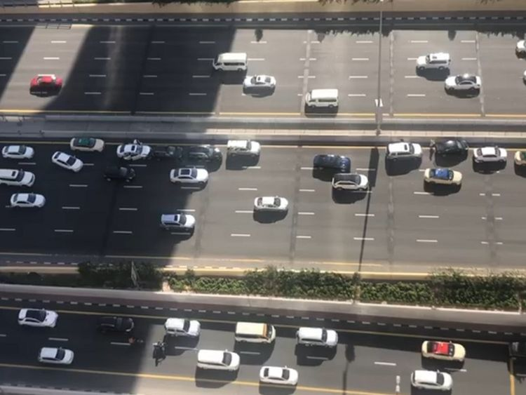 Nine car crash on Dubai's Sheikh Zayed Road