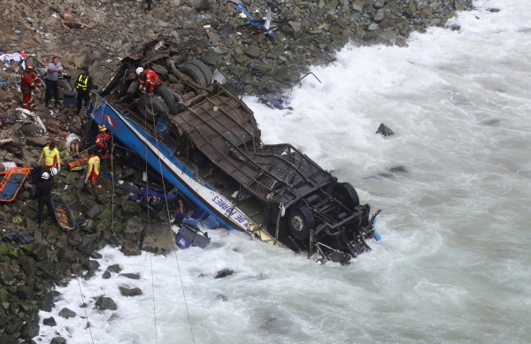 At least 36 killed in bus accident in Peru