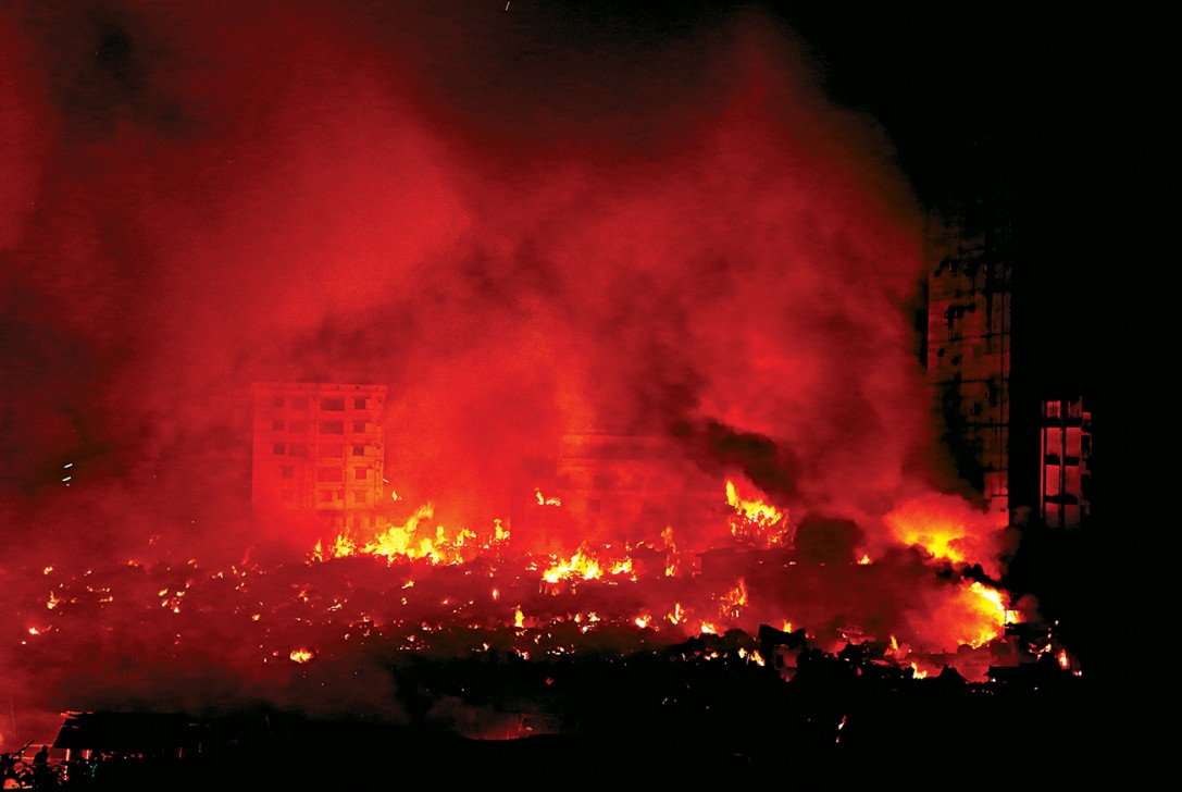 Four injured, thousands homeless in massive Dhaka fire