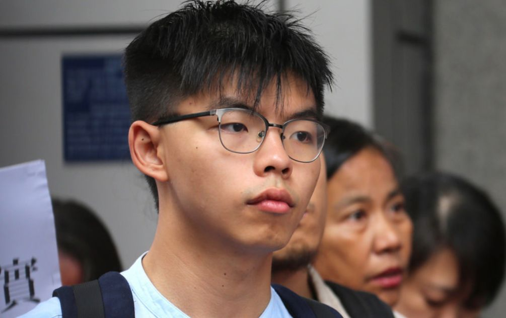 Leading Hong Kong democracy activist Joshua Wong arrested