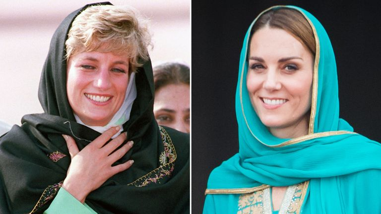 Kate follows Princess Diana