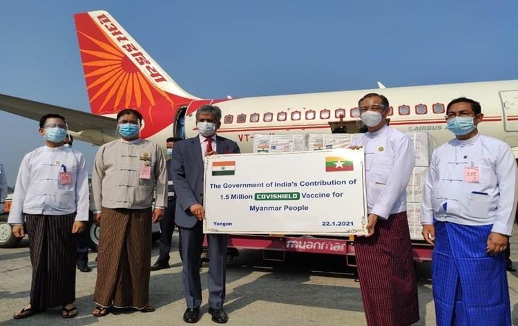 Myanmar, Mauritius, Morocco & Seychelles receive India made COVISHIELD vaccine