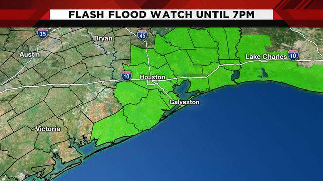 Flash Flood Watch issued in Houston, US