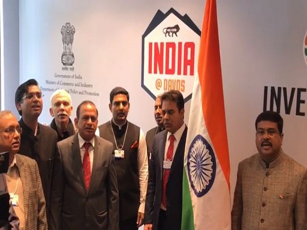 Indian political fraternity celebrates  R-Day at Davos