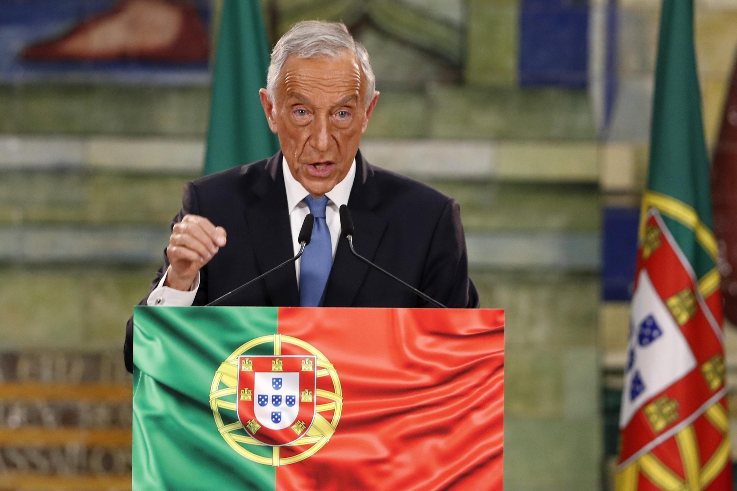 portugalpresidentrebelodesousawinsnewterm