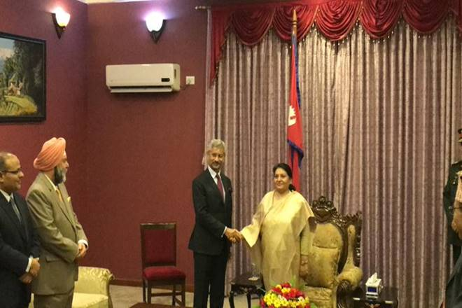 Jaishankar calls on Nepal President Bidya Devi Bhandari