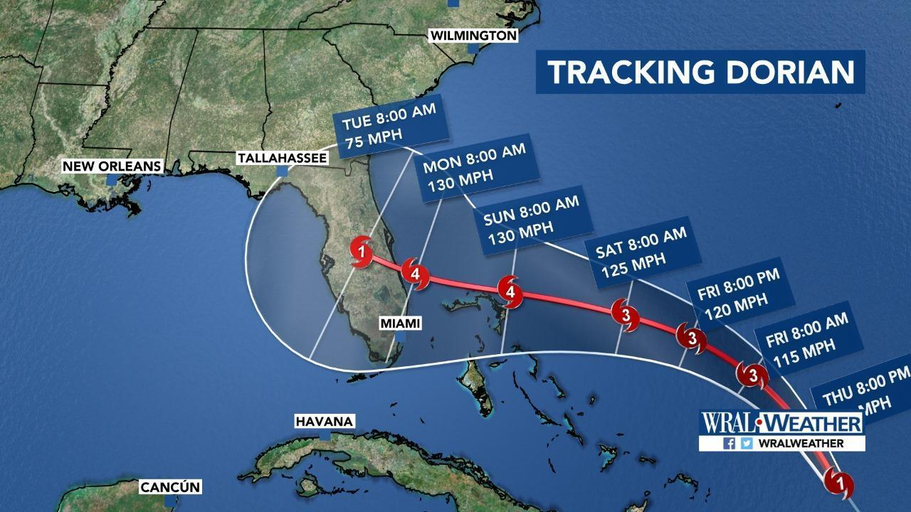 Hurricane Dorian strengthens to Category 2 storm in US
