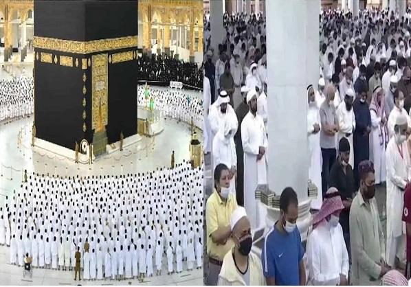 Social distancing ends at Masjid Al Haram and Masjid An Nabawi  after 1.5 years