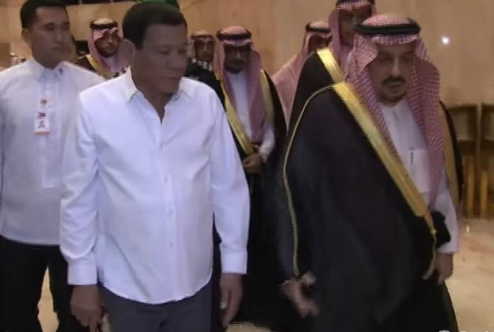 Duterte arrives in Saudi capital
