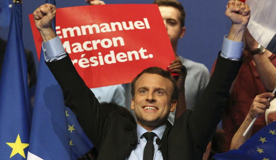 French President Macron unveils