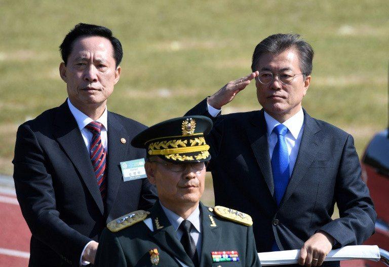 S Korea announces new sanctions against Pyongyang, a day before Trump visit