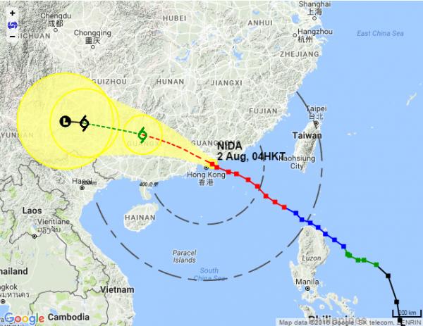 Typhoon Nida lashes Hong Kong