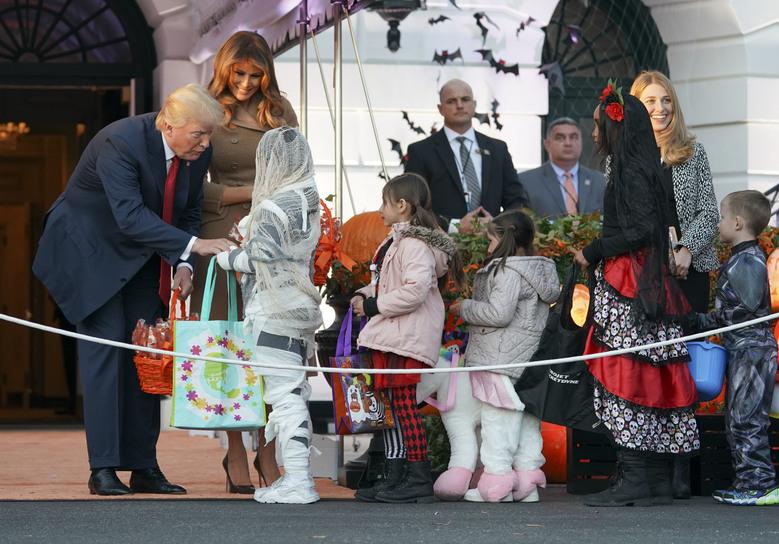 Donald Trump,Melania Trump welcome ghosts on Halloween eve