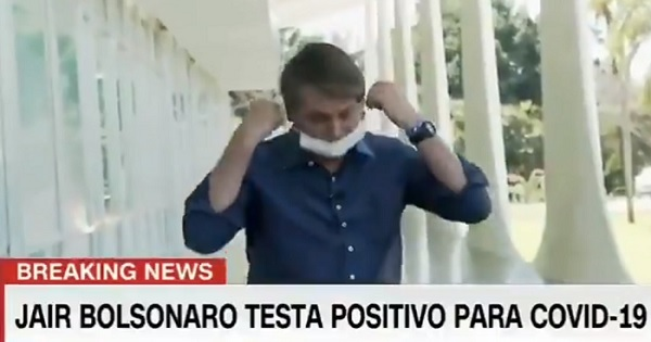 Brazil President Removes Mask After Testing Covid-19 Positive, Twitter Asks, Is This a Joke?