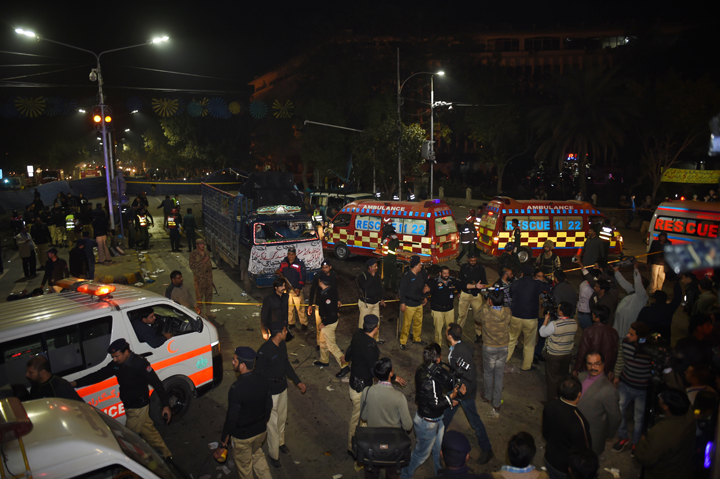 At least 22 injured in a bomb blast in Lahore